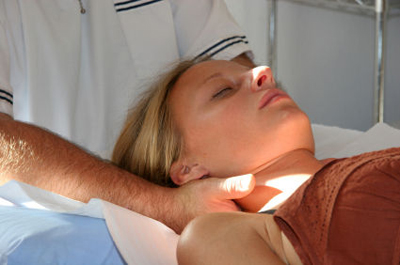 Specialist hands on osteopathic treatment